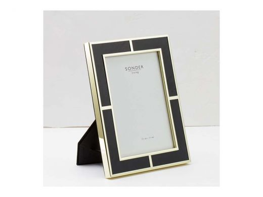 Black Gold Brass Frame -5'x7'
