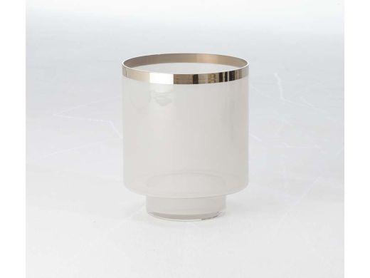 Eve Vase Gry Sil Metallic Sml