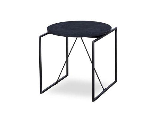 Georgina Side Table-Blk Marble