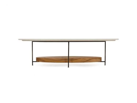 Olivia Coffee Table, White Lacquer