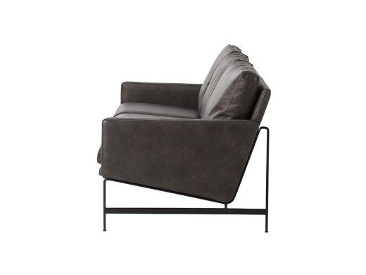 Vanessa 3 Seat Sofa, Black Leather