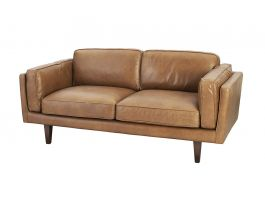Brooklyn 2.5-Seat Sofa - Brown Leather