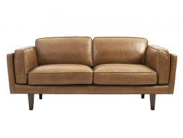 Brooklyn 2.5-Seat Sofa - Brown Leather - view2