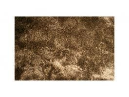 Silky Shaggy Brown and White Rug 8x10