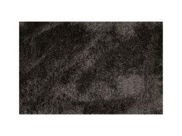 Silky Shaggy Black Rug 6x9