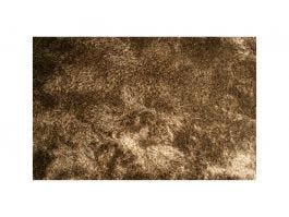 Silky Shaggy Rug, Brown and White 6x9