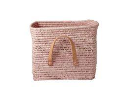 Square Raffia Basket -Pink - view2