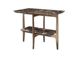 Camden Side Table, Brown Marble  - view2