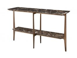 Camden Console, Brown Marble - view2