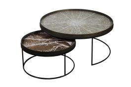 Round Tray Tables Set, XL