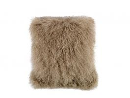 Tibet Lamb Fur Cushion, Camel
