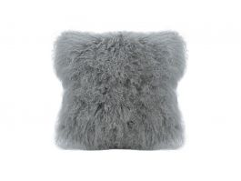Tibet Lamb Fur Cushion L.Grey
