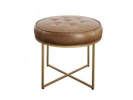 Brooklyn Round Ottoman - view2