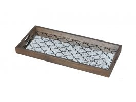 Bronze Gate Glass Tray Rect - view2