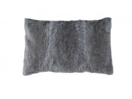 Grey Fur Cushion Cover, 50x30cm