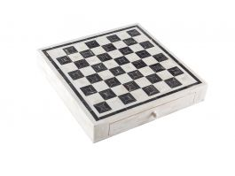 Bone Chess Set with Drawers - view2