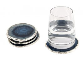Agate Coaster Blue & Silver - view2