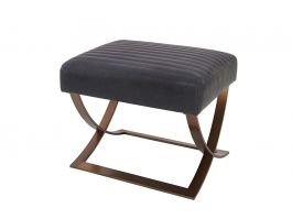 Mitchell Leather Ottoman - view2