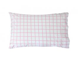 Almond Pink Check Pillowcase - view2