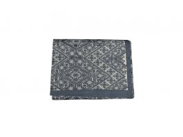 Embroidered Bed Throw - Grey - view2
