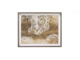 Paper Cut City Map Hong Kong