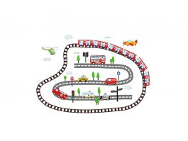 Kids Transport Wall Decal - view2