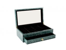 Blue Burl Jewellery Box