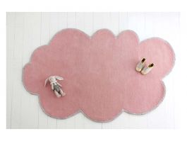 Cloud Pink Rug w/Silver Trim - view2
