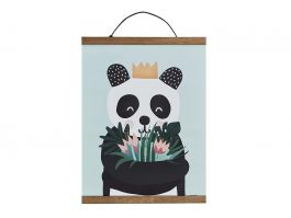 Panda Poster with Magnet Hanger - view2