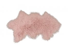 Lamb Fur Pink Rug - view2