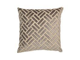 Brick Cushion Cover - Silver
