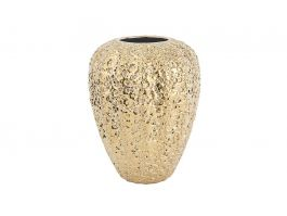 Gold Eroded Medium Vase - view2