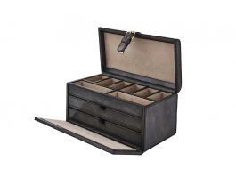 Leather Premium Drawer Box GRY - view2
