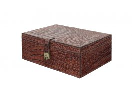 Croc Leather Jewellery Box