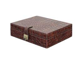 Croc Leather Jewellery Box - view2