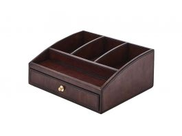 Leather Storage Box Brown