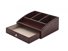 Leather Storage Box Brown - view2