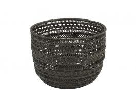Vallery Bamboo Round Basket L