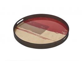 Rasberry Abstract Tray - M