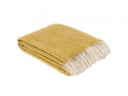 Line Lambs Wool Throw Yellow - view2