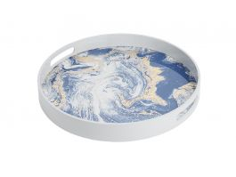 Gazelle Lacquered Tray Blue S