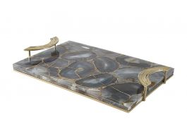 Wolfston Tray, Grey Agate Stone