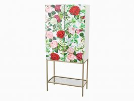 Rose Pattern Cabinet, Hand Painted - view2