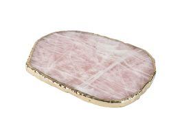 Rose Quartz Plate, Large
