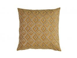 Diamante Cushion Cover, Ochre 50x50cm