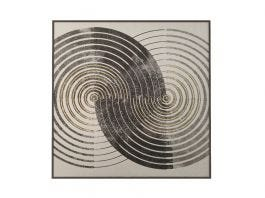 Spirals on Linen Artwork