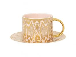 Safari Snakeskin, Teacup & Saucer