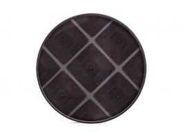 Slate Linear Round Glass Tray OXL
