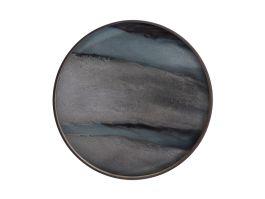 Graphite Organic Round Tray