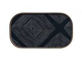 Ink Linear Glass Tray Rectangular